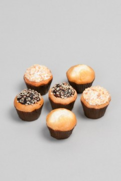 Minimuffins 6 stk med topping